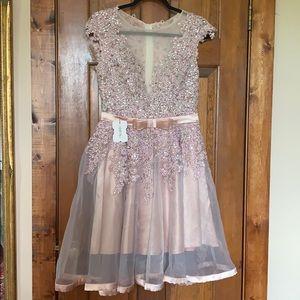 Stunning Pale Pink Princess Wedding/Formal Dress M